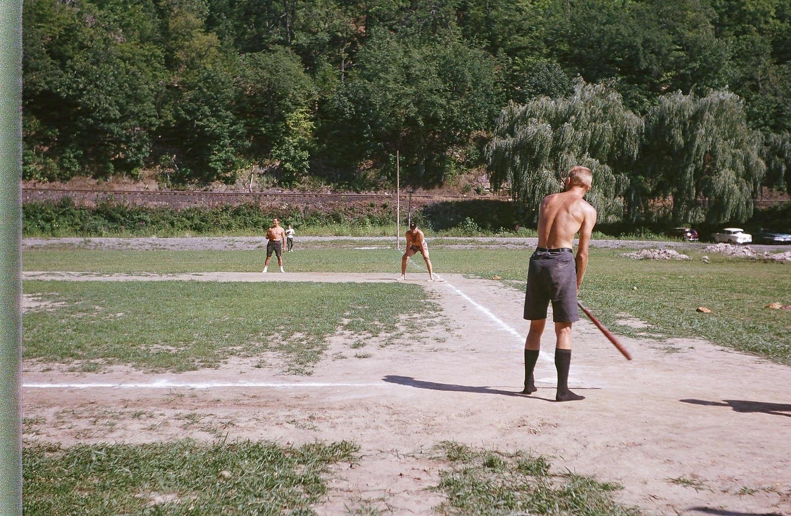 Sunday Baseball Game at Williams Lake- Randy Siegel Standing on First Base